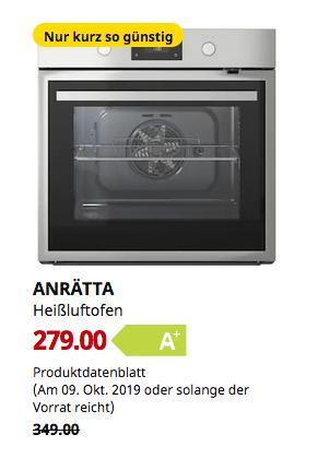 IKEA Kiel - ANRÄTTA Heißluftofen, Edelstahl,59.5 cm breit - jetzt 20% billiger