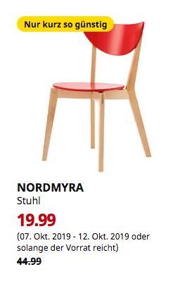 IKEA Ludwigsburg - NORDMYRA Stuhl, rot - jetzt 56% billiger