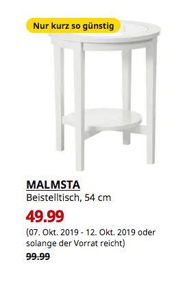 IKEA Magdeburg - MALMSTA Beistelltisch, weiß, 54 cm - jetzt 50% billiger