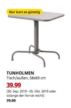 IKEA Magdeburg - TUNHOLMEN Tisch/außen, grau, 58x69 cm - jetzt 50% billiger