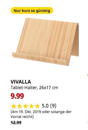 IKEA Regensburg - VIVALLA Tablet-Halter, Bambusfurnier, 26x17 cm - jetzt 23% billiger