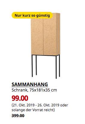 IKEA SAMMANHANG Schrank, Kork, 75x181x35 cm - jetzt 75% billiger