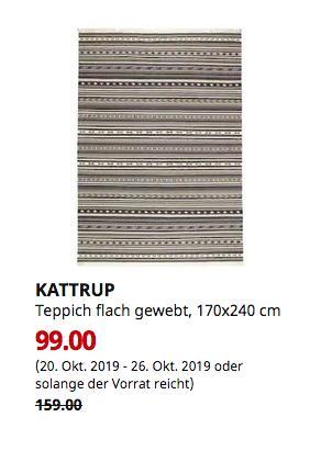 IKEA Würzburg - KATTRUP Teppich flach gewebt, Handarbeit grau, 170x240 cm - jetzt 38% billiger