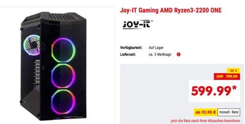 Joy-IT AMD Ryzen3-2200 ONE Gaming PC (8GB RAM, 240GB SSD, GForce GTX 1050 TI 4 GB) - jetzt 9% billiger