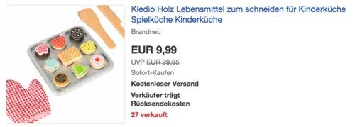 Kledio KL-6774 Kinder Keks Backset aus Holz, 22 tlg. - jetzt 24% billiger