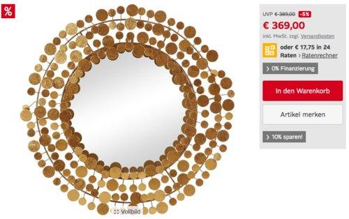 """Lambert 69 cm Dekospiegel """"Midas"""", goldfarben - jetzt 10% billiger"""