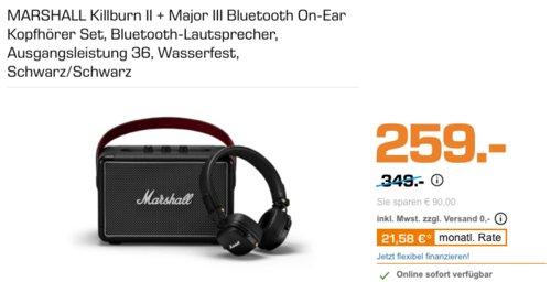 MARSHALL Killburn II Bluetooth-Lautsprecher inkl. Major III Bluetooth On-Ear Kopfhörer - jetzt 15% billiger