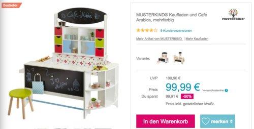 MUSTERKIND Kaufladen und Cafe Arabica inklusive Stuhl - jetzt 31% billiger