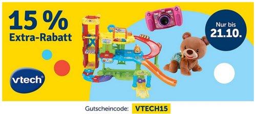 myToys - 15 % Extra-Rabatt auf Artikel von Vtech: z.B.  Vtech Tip Tap Baby Tiere - Spielset Bauernhof - jetzt 14% billiger