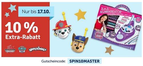 myToys.de 10% Extra-Rabat auf ausgewählteArtikel der Marke Spin Master: z.B.  Spin Master Luvabeau lernfähige Funktionspuppe/Babypuppe - jetzt 10% billiger