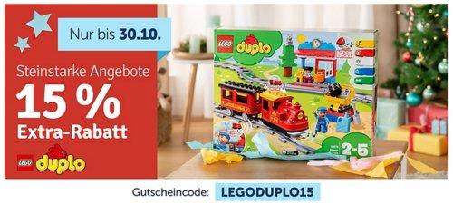 myToys.de - 15% Extra-Rabat auf Lego Duplo: z.B. LEGO 10887 DUPLO Steinebox Bunter Bauspaß - jetzt 14% billiger