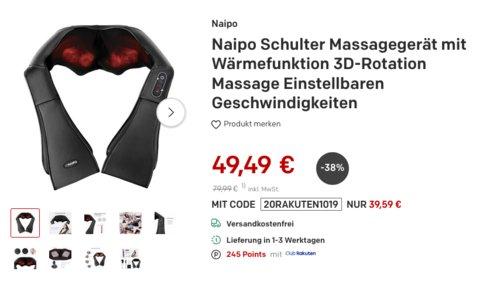 Naipo MGS-150D Schulter Massagegerät mit Wärmefunktion, 3D-Rotation Massage - jetzt 20% billiger