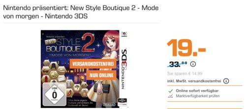 Nintendo präsentiert: New Style Boutique 2 - Mode von morgen - Nintendo 3DS - jetzt 17% billiger