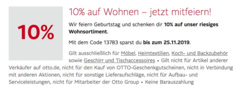 """Otto.de - 10% Extra-Rabat auf Möbel, Heimtextilien, Koch- und Backzubehör sowie Geschirr und Tischaccessoires: z.B. CreaTable Kombiservice """"Celebration, 50-tlg. - jetzt 9% billiger"""