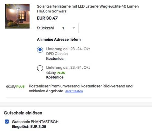 Outsunny Solar LED-Gartenlaterne 40 Lumen 160cm hoch, schwarz - jetzt 10% billiger