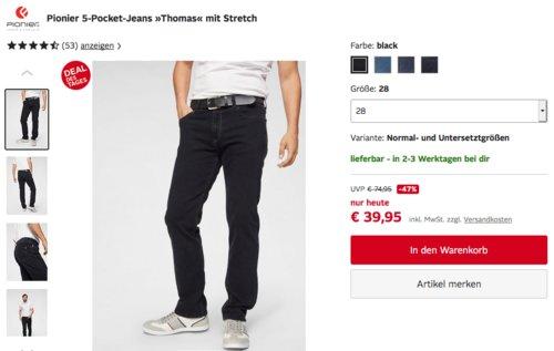 """Pionier Herren 5-Pocket-Jeans """"Thomas"""" mit Stretch, versch. Farben und Größen - jetzt 23% billiger"""