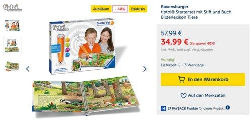 Ravensburger tiptoi® Starterset mit Stift und Buch Bilderlexikon Tiere - jetzt 26% billiger