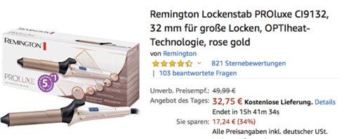 Remington CI9132  Lockenstab PROluxe für große Locken, rosegold - jetzt 18% billiger