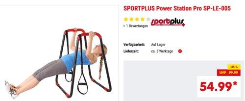 SPORTPLUS Power Station Pro SP-LE-005, Trainingsgerät mit über 100 möglichen Übungen - jetzt 8% billiger