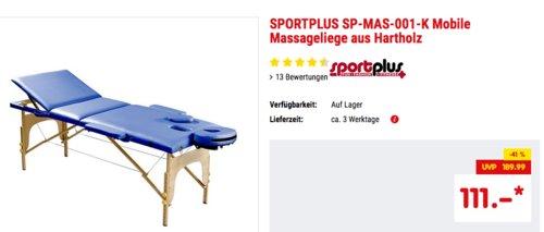 SPORTPLUS SP-MAS-001-K Mobile Massageliege aus Hartholz, 195 cm lang - jetzt 15% billiger