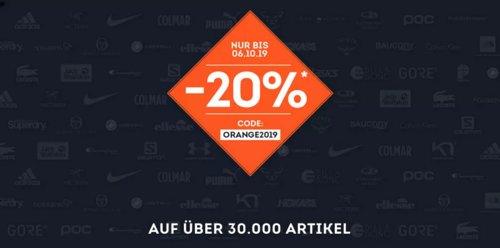 SportScheck.com - 20% Rabatt auf ausgewählte Artikel: z.B. Nike Vapor Power - Sporttasche, 37 Liter - jetzt 18% billiger