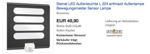 Steinel L 224 LED Sensor-Außenleuchte, 7,5 Watt - jetzt 29% billiger