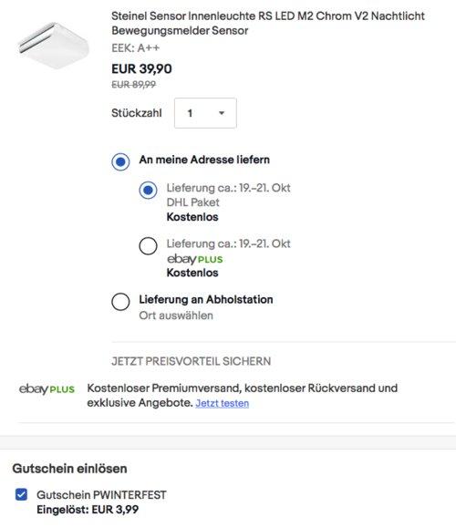 Steinel RS LED M2 Chrom V2 Sensor Innenleuchte (873 lm, 360° Erfassungswinkel, 9,5 W) - jetzt 28% billiger