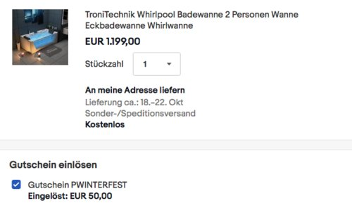 TroniTechnik KOS 2 Whirlpool mit Farblichtherapie, 179cm x 85cm - jetzt 4% billiger