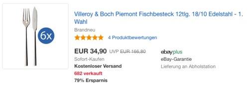 Villeroy & Boch Piemont Fischbesteck, 12-teilig - jetzt 30% billiger