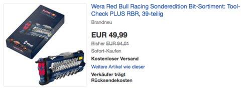 Wera 05227704001 Red Bull Racing Bit-Sortiment, 39-teilig - jetzt 21% billiger