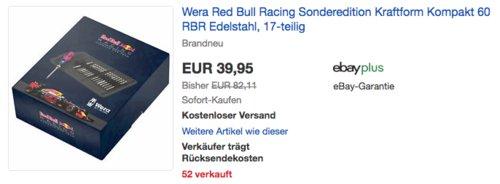 Wera Red Bull Racing Sonderedition Kraftform Kompakt 60 RBR Edelstahl Bit-Klingen Set, 17-teilig - jetzt 11% billiger