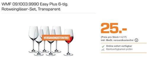 WMF 09.1003.9990 Easy Plus Rotweingläser-Set,  6-tlg. - jetzt 21% billiger