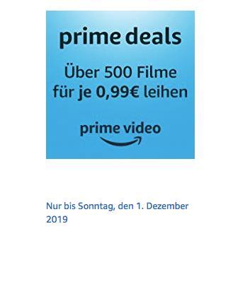 Amazon Prime Video: über 500 Filme für je 0,99€ zum Ausleihen, gilt bis 1.12.19 - jetzt 80% billiger