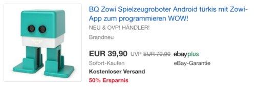 BQ Zowi Spielzeugroboter mit Zowi-App zum Programmieren - jetzt 33% billiger