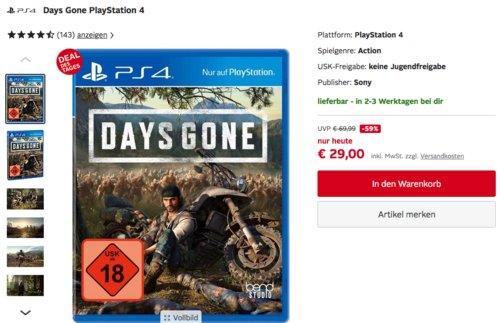 Days Gone - Standard Edition - [PlayStation 4] - jetzt 13% billiger