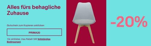 Ebay - 20% Rabatt auf ausgewählte Möbel & Wohnen: z.B. HOMCOM 3-teilige Essgruppe (1 Tisch + 2 Hocker), schwarz mit dunkler Naturholzoptik - jetzt 20% billiger