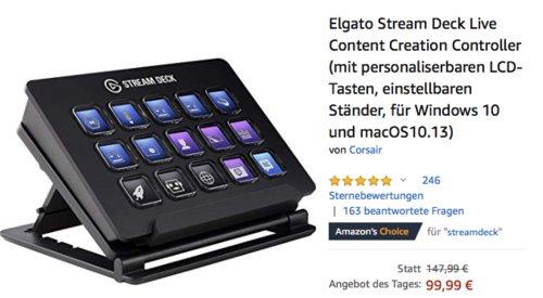 Elgato Stream Deck Controller mit 15 personaliserbaren LCD-Tasten - jetzt 24% billiger