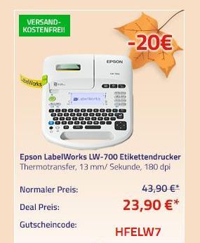 Epson LabelWorks LW-700 Etikettendrucker, 180 dpi - jetzt 46% billiger