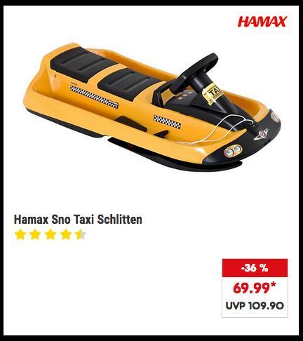 Hamax Sno Taxi Schlitten, 110 cm lang - jetzt 27% billiger