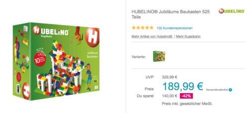 Hubelino 420466 Jubiläums Baukasten Kugelbahn, 525 Teile - jetzt 17% billiger
