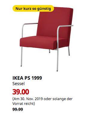 IKEAAugsburg - PS 1999 Sessel, Orrsta rot - jetzt 61% billiger