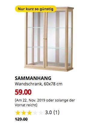 IKEA Augsburg - SAMMANHANG Wandschrank, 60x78 cm - jetzt 54% billiger