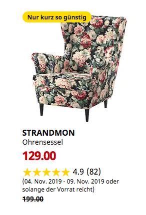IKEA Bremerhaven - STRANDMON Ohrensessel, Lingbo bunt - jetzt 35% billiger