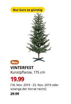 IKEADresden - VINTERFEST Kunstpflanze, Weihnachtsbaum, 175 cm - jetzt 33% billiger