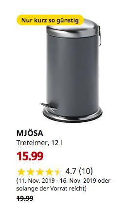 IKEA Hamburg-Schnelsen - MJÖSA Treteimer, dunkelgrau, 12 l - jetzt 20% billiger