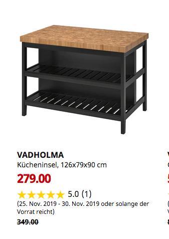 IKEA MALM Schreibtisch für 69,00€ (-37%)