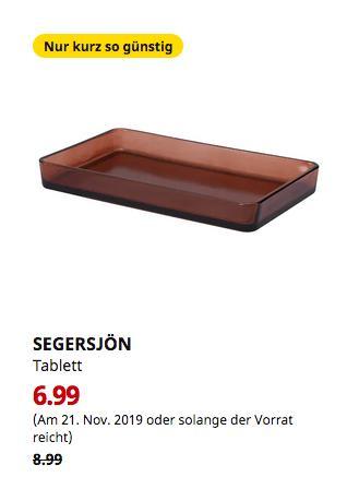 IKEA Kaiserslautern - SEGERSJÖN Tablett, braun,25 x15 x3 cm - jetzt 22% billiger