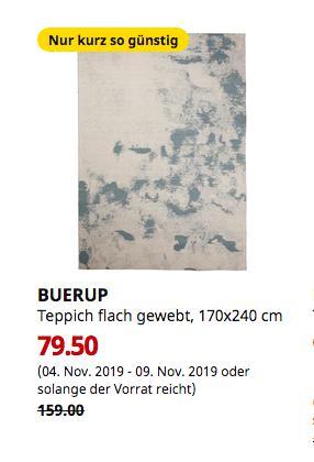 IKEA Magdeburg - BUERUP Teppich flach gewebt, blau, 170x240 cm - jetzt 50% billiger