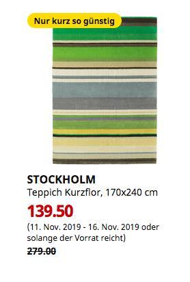 IKEA Magdeburg - STOCKHOLM Teppich Kurzflor, grün Handarbeit grün, 170x240 cm - jetzt 50% billiger