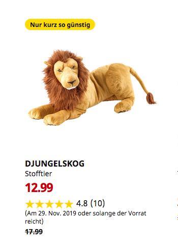 IKEA Regensburg - DJUNGELSKOG Stofftier, Löwe,70 cm - jetzt 28% billiger